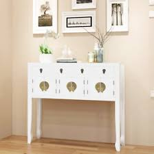 White Hallway Console Table White Console Tables Ebay
