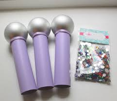 microphone craft kit kids diy pink bling your microphone set