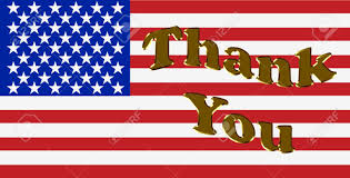 A American Flag Pictures Thank You Written In Gold Letters Over A American Flag Thank
