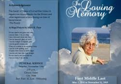memorial program templates memorial program event template in pdf archives templates