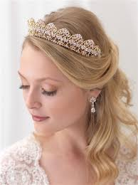 bridal tiara alexandra gold bridal crown shop new bridal accessories usabride