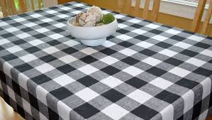 Black And White Table Cloth Black Buffalo Check Tablecloth Premier Prints Anderson Black