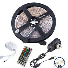 tenlion 5050 led strip lights rgb led strips lighting full kit 44