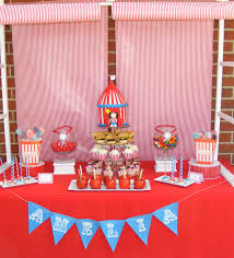 Carnival Themed Table Decorations Carnival Kids Candy And Dessert Buffet Candy Buffets Pinterest