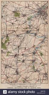 Ww1 Map Ww1 Cambrai Battlefield U0026 St Quentin Canal Marcoing Epéhy Nord