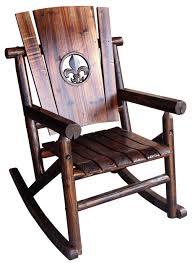 Cracker Barrel Rocking Chair Furniture Charming Dark Brown Laminated Wooden Traditional