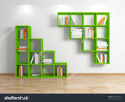 Background Bookshelf Stock Photo Modern Bookshelf Isolated On White Background D