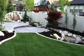 Landscaping Ideas For Backyard Privacy Backyard Privacy Ideas Image Of Privacy Fence Landscaping Ideas