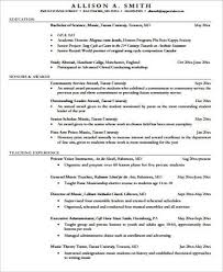 Sample Music Teacher Resume by Music Teacher Resume Template Examples
