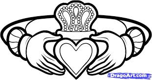how to draw a claddagh ring claddagh ring tattoo step by step