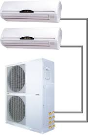 60000 btu dual zone 5 ton ductless mini split air conditioner