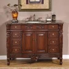48 Bathroom Vanity With Granite Top by Silkroad Exclusive Single Sink 48 Inch Granite Top Vanity Cabinet