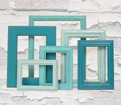 shabby chic frames picture frames picture frame set turquoise home