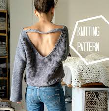 knit oversized sweater no purls sweater pattern only v back knit sweater pattern