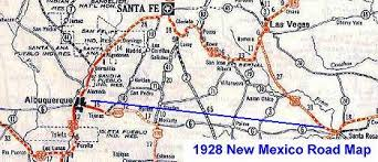map us highway route 66 santa fe pre 1938 alignment of new mexico route 66