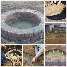 circular fire pit diy fire pit bricks and cozy