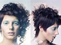 same haircut straight and curly curly part straight short asymmetric pixie haircut 2018