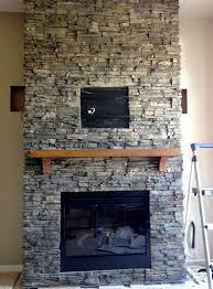 Interior Stone Veneer Home Depot Ergonomic Stacked Stone Tile Fireplace 106 Stacked Stone Veneer