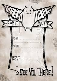 printable halloween birthday party invitations u2013 fun for christmas