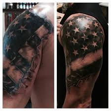 Christian Flag Tattoo Ripped Skin American Flag Tattoo Google Search Incredible Ink