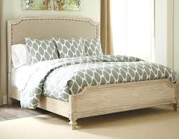 unusual distressed off white bedroom furniture rustic bed frame