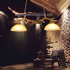 Best Ceiling Lights Best 2 Antler Chandelier Two Cast Ceiling Lights Antique Rustic