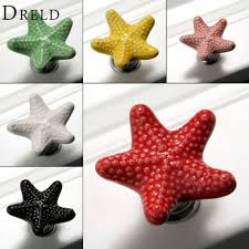 Red Cabinet Knobs For Kitchen Online Get Cheap Starfish Cabinet Knobs Aliexpress Com Alibaba