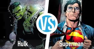 Hulk Superman Battle Superhero Database