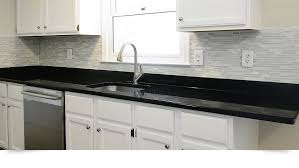 MODERN White Marble Glass Kitchen Backsplash Tile Backsplashcom - Black backsplash