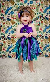 Peacock Halloween Costume Girls Peacock Tutu Dress Peacock Feather Headband Baby