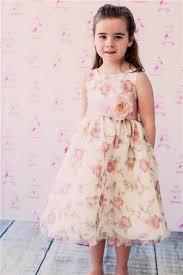 flower girl dress girl s floral printed flower girl dress