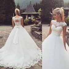 lace wedding dress 2016 vintage boat neck wedding dress gown white lace