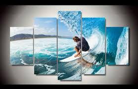 chambre surf sans cadre imprimé hommes d eau humide surf groupe peinture