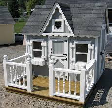 Wooden Backyard Playhouse Victorian Wooden Outdoor Playhouse Kit 4 X 6 4x6 Smvp Wpnk