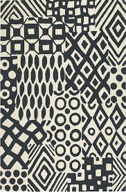 Modern Black And White Rugs Black And White Rug Modern Rugs