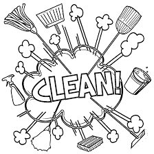 all rigor photo cleaning coloring page wecoloringpage