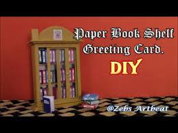 Sliding Door Bookcase Sliding Door Bookshelf With Mini Greeting Cards Diy Youtube