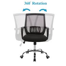 Modern Desk Chair No Wheels Amazon Com Vecelo Adjustable Computer Office Task Chair 360