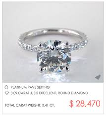 how much does an engagement ring cost 3 carat pave engagement ring for 28 470 engagement ring