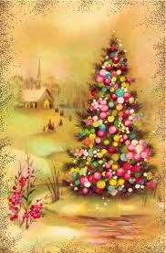 beautiful christmas cards vintage quality crest christmas card christmas tree w church in