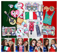 themed photo booth italy photo booth props for your italian party to