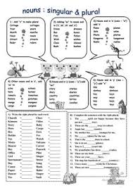 106 free esl plural nouns worksheets