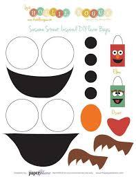 sesame street birthday favor bags templates