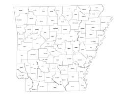 United States Cities Map by Arkansas Outline Maps And Map Links