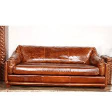 Vintage Leather Sofas Handmade Riveted Barrington Vintage Leather Sofa Buy Barrington
