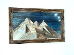 wood mountain mountains wall wall centerpiece