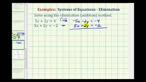 ex system of equations using elimination no solution