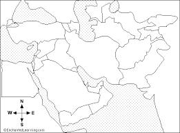 east political map middle east outline map enchantedlearning com