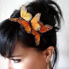 marissa three monarch butterflies headband bohemian hair