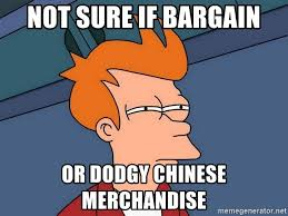 Meme Merchandise - not sure if bargain or dodgy chinese merchandise futurama fry